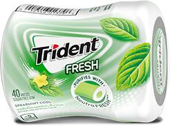 Trident Spearmint Cool with Cucumber Accents Sugar Free Gum