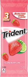 Trident Island Berry Lime Sugar Free Gum 3-Packs
