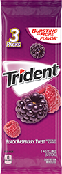Trident Black Raspberry Twist Sugar Free Gum 3-Packs