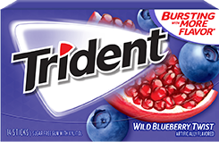 Trident Wild Blueberry Twist Sugar Free Gum