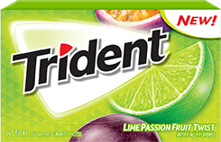 Trident Lime Passion Fruit Twist Sugar Free Gum