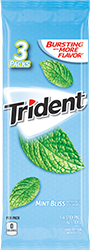 Trident Mint Bliss Sugar Free Gum 3-Packs