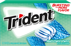 Trident Sugar Free Gum Minty Sweet Twist It's like mint gum gave you a kiss on the cheek