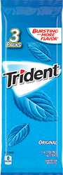 Trident Original Flavor Sugar Free Gum 3-Packs