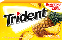 Trident Pineapple Twist Sugar Free Gum