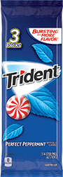 Trident Perfect Peppermint Sugar Free Gum 3-Packs