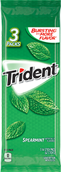 Trident Spearmint Sugar Free Gum 3-Packs