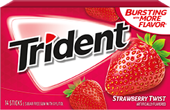 Trident Strawberry Twist Sugar Free Gum