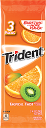 Trident Tropical Twist Sugar Free Gum 3-Packs