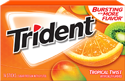 Trident Tropical Twist Sugar Free Gum